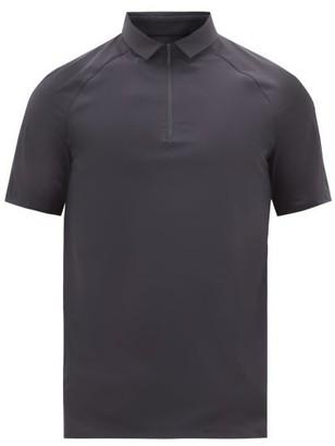 Jacques - Zipped Technical Polo Shirt - Navy