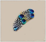 Natural Peacock Feather Fascinator Wedding Hair Clip (blue with white dot) by Seven & Nine Service