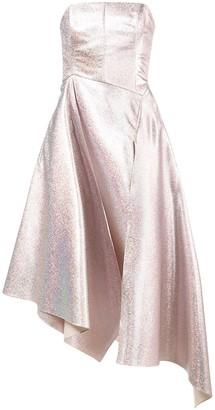 Osman Strapless Glitter Gown