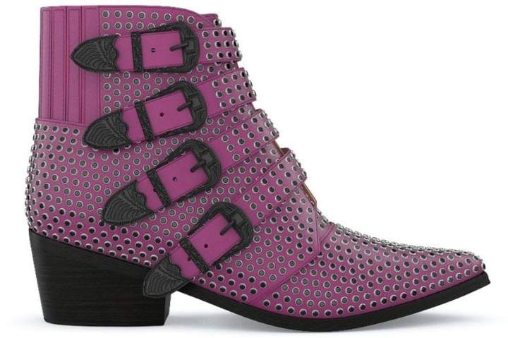 f1a7dc00b Pink Leather Boots - ShopStyle UK