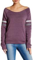 Alternative Varsity Stripe Slouched Pullover