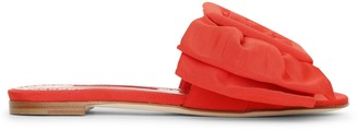 Manolo Blahnik Flaria flat red slides