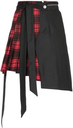 Taverniti So Ben Unravel Project Check Patterned Skirt