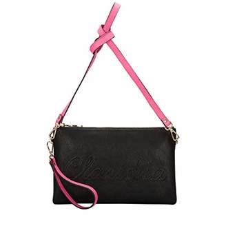Claudia Canova Womens Claudia Canova Embossed Zip Top Clutch Shoulder Bag