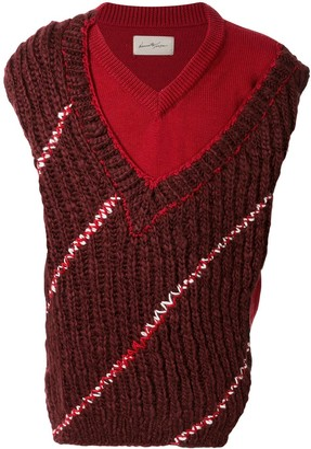 Necessity Sense Domini layered knit vest