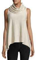 Alice + Olivia Sharry Sleeveless Turtleneck Pullover, Cream