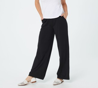 Denim & Co. Regular Beach Pull-On Wide-Leg Pants