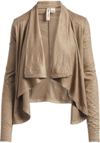 Mimichica Taupe Shimmer Shawl Collar Jacket