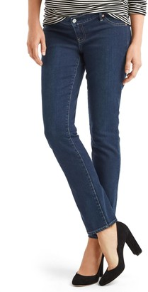 Gap Maternity inset panel real straight jeans