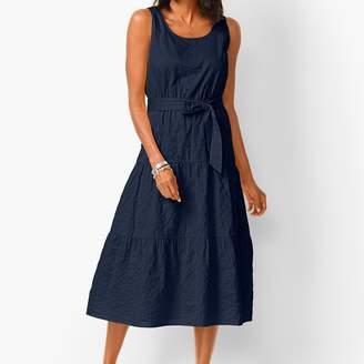 Talbots Tonal Stripe Tiered Maxi Dress