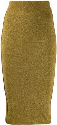 Forte Forte metallic finish knitted pencil skirt
