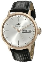 Adee Kaye Men's AK2226-MRG/SV Vintage Analog Display Japanese Quartz Black Watch