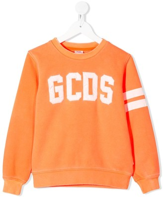 Gcds Kids Logo Print Relaxed-Fit Sweatshirt