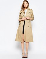 Asos Midi Trench With Retro Styling
