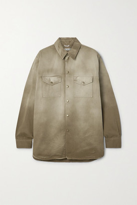 Acne Studios Net Sustain Degrade Organic Cotton-twill Jacket - Tan