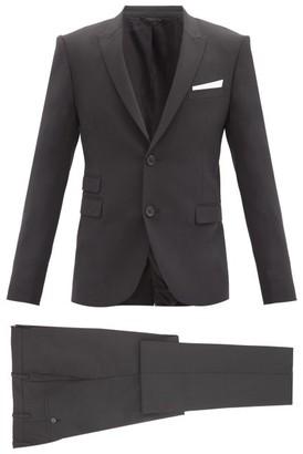 Neil Barrett Travel Slim-fit Gabardine Two-piece Suit - Black