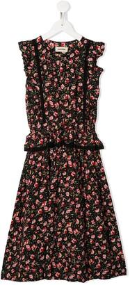 Zadig & Voltaire Kids Floral-Print Ruffle-Trim Dress