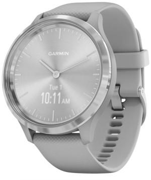 Garmin Unisex vivomove 3 Style Gray Silicone Strap Hybrid Touchscreen Smart Watch 44mm