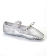 Dance Class Silver Leather Ballet Slipper - Infant, Toddler & Girls