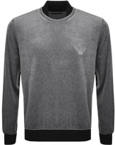 Giorgio Armani Emporio Velour Sweatshirt Grey
