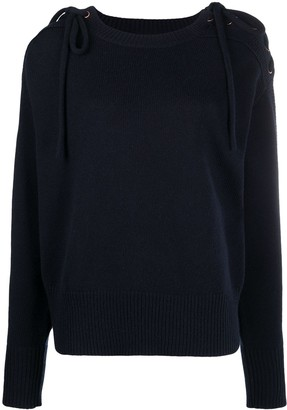 See by Chloe Lace-Up Sleeve Jumper