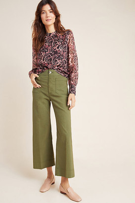 Anthropologie Wide-Leg Trousers By in Brown Size 31
