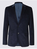 M&s Collection Cotton Rich 2 Button Jacket
