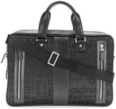 Baldinini embroidered text laptop bag