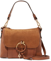 See by Chloe Joan Small Suede-paneled Leather Shoulder Bag - Tan