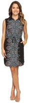 Tahari by Arthur S. Levine Petite Paisley Sleeveless Shirtdress