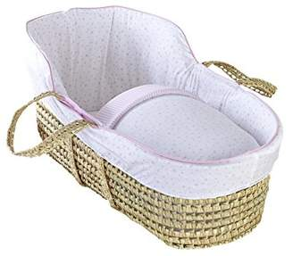 Clair De Lune High Top Palm Moses Basket (Grey, Stars and Stripes)