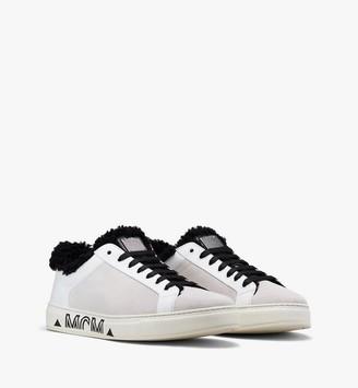 MCM Milano Low-Top Shearling Sneakers