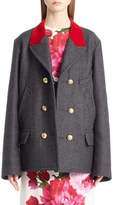 Dolce & Gabbana Women's Wool & Cotton Double Breasted Peacoat