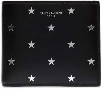 Saint Laurent star print bi-fold wallet