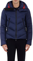 Moncler Men's Chevron-Quilted Ski Jacket-NAVY