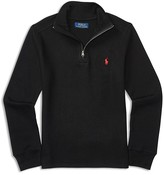 Ralph Lauren Boys' Waffle Half Zip Top - Sizes 4-7