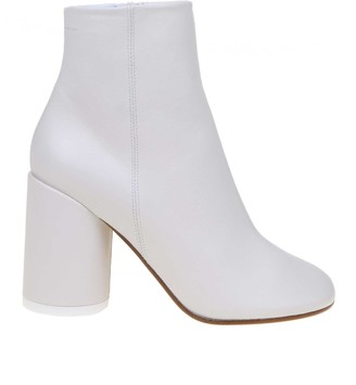 MM6 MAISON MARGIELA Tronchetto In Leather White Color