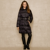 Ralph Lauren Blue Label Long Belted Down Coat
