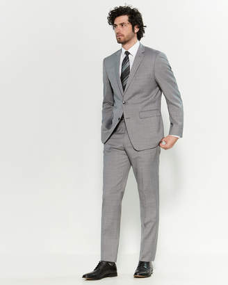 Vince Camuto Two-Piece Grey Sharkskin Slim Fit Suit