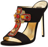 Versace Embellished Cross Mule Pump