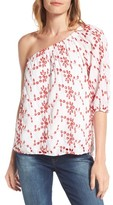 Velvet by Graham & Spencer Women's One-Shoulder Eyelet Blouse
