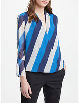 Marella Long Sleeve Stripe Top, Navy