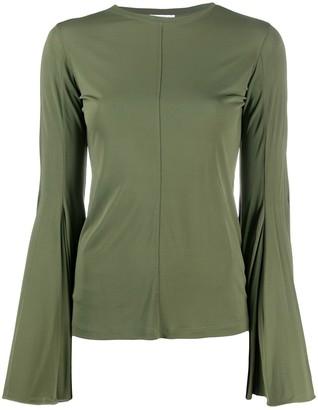 J.W.Anderson Flared Long-Sleeve Blouse
