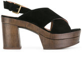 L'Autre Chose crossed sandals - women - Calf Leather/Calf Suede/rubber - 36