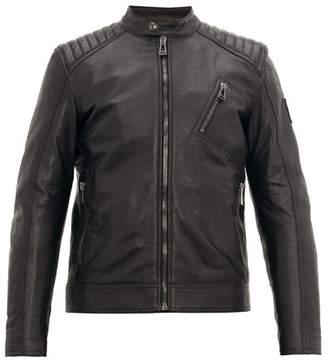 Belstaff V Racer Leather Jacket - Mens - Black