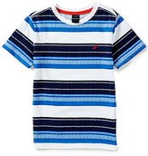 Nautica Little Boys 4-7 Striped Crew Neck Short-Sleeve Tee