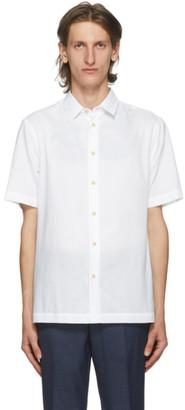Paul Smith White Organic Cotton Short Sleeve Shirt