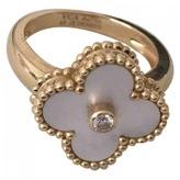 Van Cleef & Arpels White Yellow gold Ring Alhambra