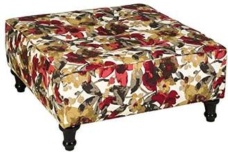 Leffler Home Hamilton Elegant Square Upholste Ottoman Coffee Tables