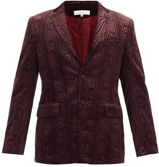 SASQUATCHfabrix. Carding Devore-velvet Jacket - Burgundy